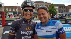 Wiggle & TeamGB track ace Dani King meets Rowena Price on track @ Round5 Stockton