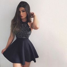 little black dresses, short mini homecoming dresses, black homecoming dresses with beaded, fashion, women's fashion. Mini Prom Dresses, Dresses Short, Hoco Dresses, Dance Dresses, Pretty Dresses, Beautiful Dresses, Formal Dresses, Prom Gowns, Beaded Dresses