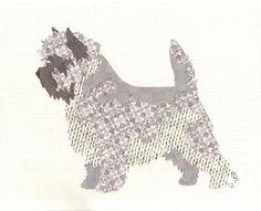 Cairn Terrier Cut Up. $35, via Etsy.