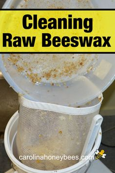Rendering or cleaning beeswax makes raw beeswax ready to use for crafts and candles. Honey Bee Pollen, Hives And Honey, Honey Bees, Honey Bee Farming, Beeswax Recipes, Bee Hive Plans, Bee Swarm, Buzzy Bee, Backyard Beekeeping
