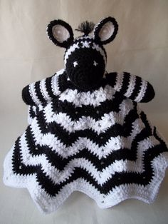 Zebra Lovey Crochet Zebra Lovey Childs by KarensCrochetCottage