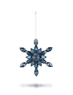 Baccarat Snowflake Ornament, Blue