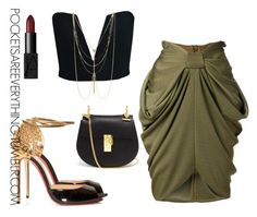 """Classy Chic"" by adoremycurves ❤ liked on Polyvore featuring Balmain, Christian Louboutin, Chloé, NARS Cosmetics and Vince Camuto"