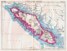 Vancouver Island Canada Map Antique Copper Engraving North American Cartography 1892 Vintage Victorian Geography. $24.89, via Etsy.