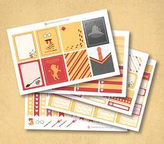 Harry Potter Gryffindor Planner Stickers matte or glossy Harry Potter Stickers, Personal Planners, Erin Condren, Travelers Notebook, Fantastic Beasts, Filofax, Planner Stickers, Unique Jewelry, Handmade Gifts