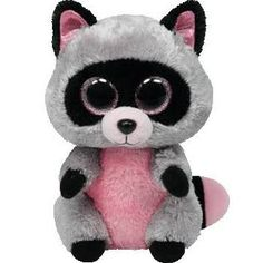 Ty Beanie Boo Rocco The Racoon Large #20