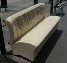 Book bench by Jeff Peachey