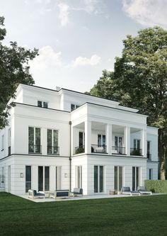 Residential house with 4 residential units, Berlin Grunewald - Architecture Neoclassical Architecture, Classic Architecture, Residential Architecture, Architecture Design, Facade Design, Exterior Design, Roof Design, Design Design, Modern Porch