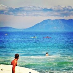 Nothing but blue skies and perfect swells at Pringle Bay, South Africa by @jochieschoeman on Instagram