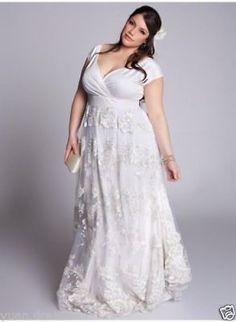 9966b9e362994 2018 White Ivory Wedding Dress Bridal Gown Custom Plus Size 18 20 22 24 26  28++