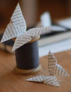 Schmetterlinge aus Buchseiten