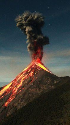 Guatemala Volcano Eruption iPhone Wallpaper - iPhone Wallpapers