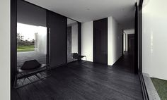 Tamizo Architects Group designed this absolutely stunning home in Pabianice, Poland. Black And White Interior, Black And White Design, Black White, Matte Black, Modern Interior Design, Interior Architecture, Tamizo Architects, Zen Style, Cabin Design