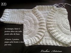 ༺✿༻Crochet/Knitting Clothing For Babies༺✿༻ Preemie Crochet, Crochet Baby Cardigan, Crochet Coat, Crochet Girls, Crochet Baby Booties, Thread Crochet, Crochet For Kids, Baby Blanket Crochet, Free Crochet