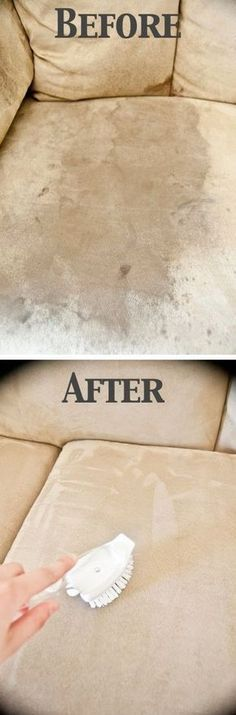 Cleaning stains off of suede covers. More