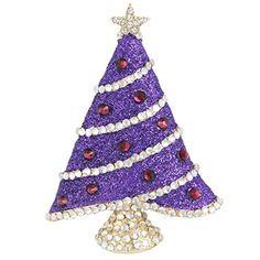 EVER FAITH Gold-Tone Austrian Crystal Enamel Shining Star Christmas Tree Brooch Purple  http://www.amazon.com/dp/B00R2462H2/ref=cm_sw_r_pi_dp_dqV0vb16F11KY