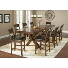 Found it at Wayfair - Park Avenue 9 Piece Counter Height Dining Set