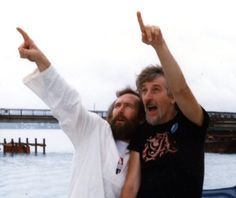 """Spinney (right) says Jim Henson, creator of the Muppets, was a """"true, true genius and a kind, warm man."""""""