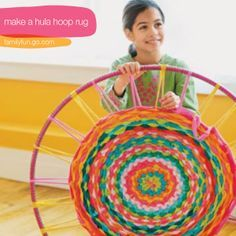 make-hula-hoop-rug-tutorial - This looks super easy, made with old t-shirts.