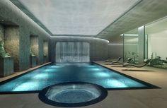 Property CGI of a basement leisure suite in a listed house in London - Charles Roberts Studios