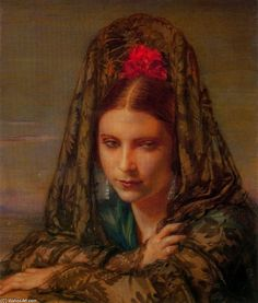 """Musa from Granada (Enriqueta)"" by Jorge Apperley (George Owen Wynne Apperley) (1884-1960)"