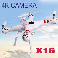 US $147.69 - 236.30 / Free Shipping X16 RC Helicopter Brushless Motor 2.4G 4CH 6Axis FPV Quadcopter RTF Automatic Return 360 Degree Flip Drone 4K 1080