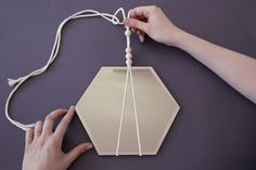 Learn how to transform our hexagonal mirrors Macrame Mirror, Macrame Art, Mirror Mirror, Mirrors Urban Outfitters, Diy Hanging, Hanging Mirrors, Contemporary Embroidery, Boho Room, Diy Birthday