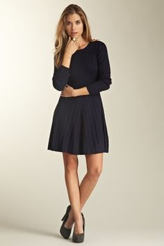 Long Sleeve Fitted Sweater Dress
