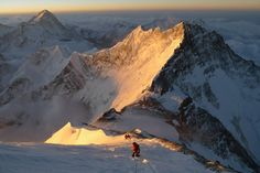 An Everest sunrise... © Adam Booth, 13 May 2013 Route: South col route Climbers: Sherpa Chittern