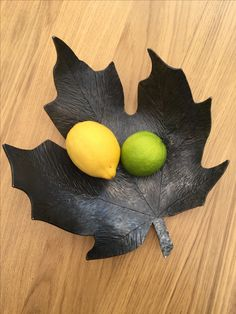 Forged metal leaf bowl by Harry at Salty Dogs Create...