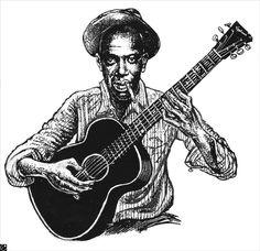 Black & White http://oigofotos.wordpress.com/2013/07/12/oscuras-leyendas-del-blues-robert-johnson-entre-cruces-de-caminos-y-pactos-con-el-diablo/