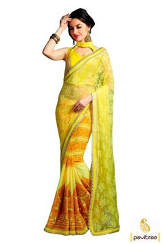 Get bold fashion with new style yellow color dhupion printed casual wear saree online shopping with discount offer. A Indian designer party saree comes with stylish blouse design.  #saree, #discountoffer, #fancysaree, #lowestpricesaree, #sareeonline,  #newsarees, #fashionsarees, #beautifulsaree, #Indiansaree, #sareewithblouse, #casualsaree, #officewearsaree, #formalsaree, #lightweightsaree More: http://www.pavitraa.in/store/casual-saree/ Call Us:+91-7698234040 E-mail: info@pavitraa.in