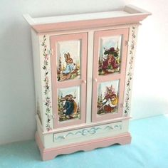 dollhouse miniature Beatrix Potter armoire, by Karen Markland