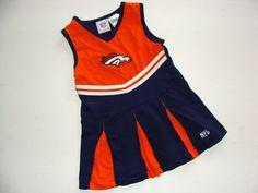 Cute cheerleadeer Broncos dress 3T