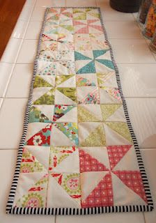 Pinwheel table runner. or make it a quilt.