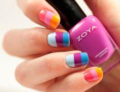 Election nails #zoya #colorblocks