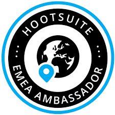 Logo Embajador HootSuite EMEA