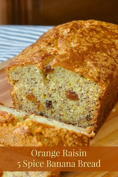 Orange Raisin Five Spice Banana Bread - what a wonderful combination of flavours in this heavenly scented banana bread. Another great use for ripe bananas.