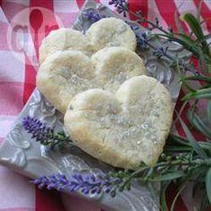 Biscoitos amanteigado de lavanda @ allrecipes.com.br