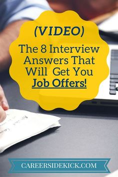 find this pin and more on career inspiration video 8 typical interview questions and answers to practice - Mock Interview Questions Job Interview Videos Practicing