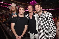 LAS VEGAS, NV - MAY 21:  (L-R) Recording artists Brian Kelley of Florida Georgia Line, Andrew Taggart of The Chainsmokers, Tyler Hubbard of Florida Georgia Line, and Alex Pall of The Chainsmokers attend the 2017 Billboard Music Awards at T-Mobile Arena on May 21, 2017 in Las Vegas, Nevada.  (Photo by Kevin Mazur/BBMA2017/Getty Images for dcp) via @AOL_Lifestyle Read more…