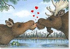Valentine's Day Card - Let's Moosebehave! | Jeffrey Severn | 21658 | Leanin' Tree