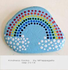 Rainbow Painted Rock - Sep 2018 - Rock On! Rainbow Painting, Dot Art Painting, Rainbow Art, Pebble Painting, Pebble Art, Stone Painting, Rainbow Rocks, Rock Painting Patterns, Rock Painting Ideas Easy