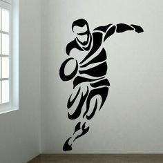 Large Upto 6ft Rugby Player Bedroom Wall Art Mural Transfer Sticker Vinyl Decal Bespoke graphics pride ourselves on quality and service.