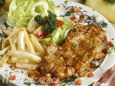 Debreceni szelet recept Macaroni And Cheese, Pork, Meat, Chicken, Dinner, Ethnic Recipes, Apartment Master Bedroom, Living Room, Kale Stir Fry