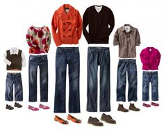 Ideas for what to wear for family pictures from Thoughts on Life and Dirty Diapers blog