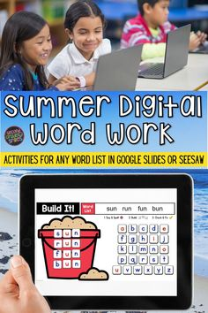 In need of digital word work options for teaching spelling words or high-frequency words? This digital word work set includes interactive word work templates for any word list with moveable letter tiles in Seesaw or Google Slides. Use them again and again with any set of spelling words or sight words. Just click to type in your own list! These fun activities are ideal for both distance learning and everyday classroom use. Word Work Games, Word Work Activities, Spelling Activities, Digital Word, Teaching Second Grade, Smile Word, Teaching Vocabulary, 2nd Grade Classroom, High Frequency Words