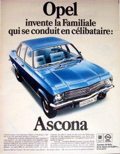 Ascona Opel Allemandes