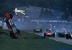 Vintage Formula One wreck