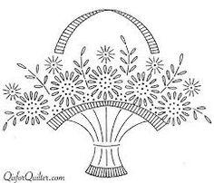 Resultado de imagem para cestas de flores bordadas